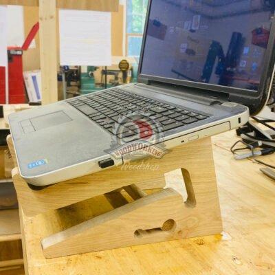 Ergonomic Wood Laptop Stand